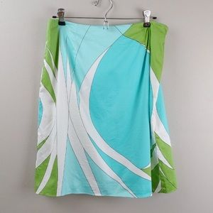 Talbots Graphic Print Skirt